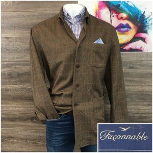 FACONNABLE Men's Jacket Sport Coat Wool Cashmere